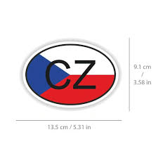 Czech Republic Flag Sticker Cz Country Code Decal For Car Truck Bike Motorcycle Unbranded In 2020 Czech Republic Flag Car Decals Cars Trucks