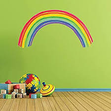 Roommates Rmk1629gm Over The Rainbow Peel And Stick Giant Wall Decal Multicolor Amazon Com