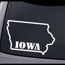 3 Pack Iowa State Map Ia Home State Outline Permanent Vinyl Decal Bumper Sticker Ebay