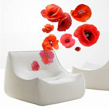 Shop Full Color Poppy Flowers Beauty Spa Full Color Wall Decal Sticker Sticker Decal 22 X 22 Overstock 15196525