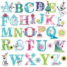 Dekosh Frozen Theme Alphabet Wall Decal Stickers Peel Stick Kids Girls Bedroom Decors
