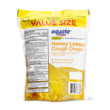 equate cough drops honey lemon cough