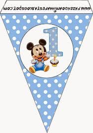 Mickey Primer Ano Con Lunares Imprimibles Gratis Para Fiestas