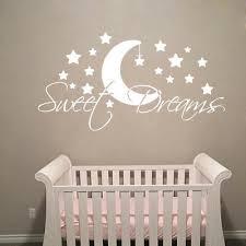Sweet Dreams Wall Decal Quote Moon Stars Vinyl Decal Bedroom Nursery Decor Ki107 19 99 Picclick