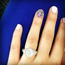 fancy nails and enement ring
