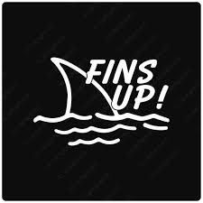 Fins Up Parrot Head Jimmy Buffett Vinyl Decal Sticker Etsy