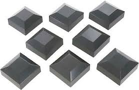 Railings Pickets Garden Outdoors Galvanised Steel Metal Pyramid Square Deck Post Cap Finial For 70 X 70mm Posts
