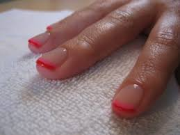 soak off gel lacquer manicure