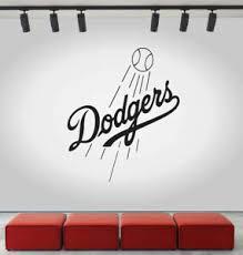 La Dodgers Logo Wall Decal Mlb Sport Sticker Decor Black Vinyl Cg509 Ebay
