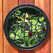 Nuvo Iron Acw55 15 In Diameter Decorative Round Black Cast Aluminum Wooden Fence And Gate Insert Investments Hardware Limited