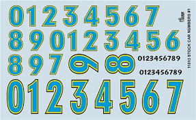 Model Car Decals 1 24 1 25 Scale Decals Gofer Racing Stock Car Numbers Decal Sheet 11013