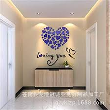 Amazon Com Amiley Wall Stickers Bling Love Heart Diy Removable Vinyl Decal Art Mural Wall Stickers Home Room Decor Blue Baby