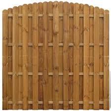 Vidaxl Vertical Wooden Hit Amp Miss Fence Panel With Arched Design 41655 Fencing Trellis Gates Aliexpress