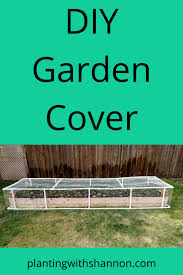 diy garden cover planting with shannon