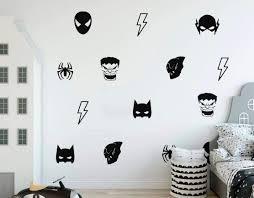 Amazon Com Batman Mask Wall Decal Hulk Decals Boy S Room Decal Spider Man Mask Sticker Batman Decal Stickers Flash Decal Playroom Decal Kids Room Decor Home Kitchen