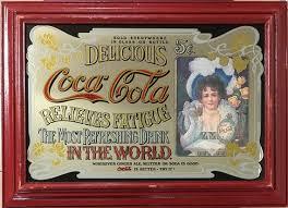 Coca-Cola Advertising Mirror Hilda Clark 1895. | Etsy