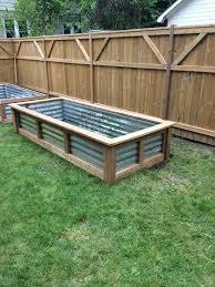 Use Tin From Barn Diy Raised Garden Raised Garden Bed Plans Raised Bed Garden Design