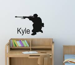 Soldier Wall Decal Personalized Boys Room Sticker Military Etsy