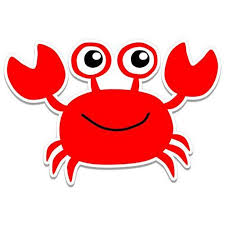 Happy Red Crab Vinyl Sticker Waterproof Decal Sticker 5 Walmart Com Walmart Com