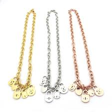 snless steel jewelry t letter