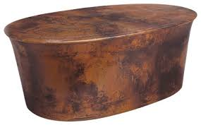 drum copper table collection