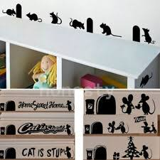 Mouse Mice Rat Vinyl Car Window Wall Pc Sticker Decal Xmas Gift Decor 28 Types For Sale Online Ebay