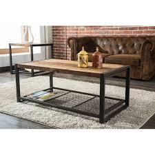 metal reclaimed wood coffee table