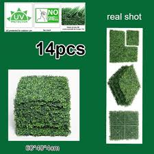 Artificial Hedges Artificial Boxwood Hedge Privacy Fence Topiary Plants 10x10 Inches Panels Wall Covering Garden Balcony Backyard Decor Artificial Shrubs