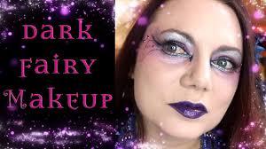 easy purple gothic fairy face paint