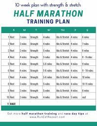 half marathon in 10 weeks plan