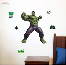 Amazon Com Decalcomania Marvel Incredible Hulk 22 X 29 Wall Decal With 3d Augmented Reality Interaction Kitchen Dining