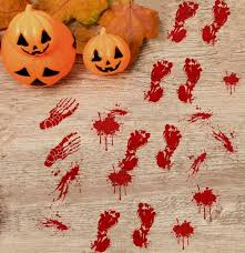 Moon Boat 58 Pcs Bloody Halloween Window Clings Vampire Zombie Party Handprint Decals Decorations Home Kitchen Home Decor Accents