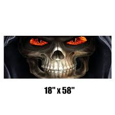Wholesale Grim Reaper Rear Window Tint Graphic Decal Wrap Back Pickup Graphics From China
