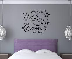 When You Wish Upon A Star You Re Dreams Come True Vinyl Decal Wall Stickers Letters Words