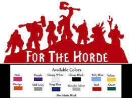 Warcraft For The Horde Vinyl Decal Car Truck Window Sticker Laptop 8x4 Free Logo Ebay