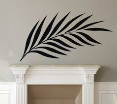 Palm Tree Branches Silhouette Vinyl Decor Wall Decal Customvinyldecor Com