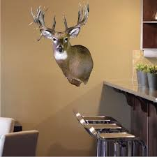 Deer Head Wall Decal Wild Animal Wildlife Wall Decor Hunting Sticker B American Wall Designs