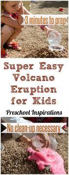 easy baking soda and vinegar volcano
