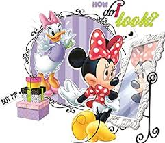 Amazon Com 8 Inch Minnie Mouse And Daisy Duck Mickey Removable Wall Decal Sticker Art Disney Home Decor 8 1 2 Inches Wide By 8 Inches Tall Baby