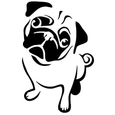 Amazon Com Socooldesign Pug Life Puppy Car Window Vinyl Decal Sticker 4 Wide White Automotive
