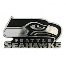 New Seattle Seahawks Car Truck Auto 3 D Plastic Chrome Emblem Decal Sticker 681620127225 Ebay