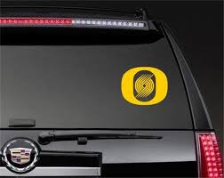 Oregon Ducks Blazers Logo Mashup Decal Car Window Etsy