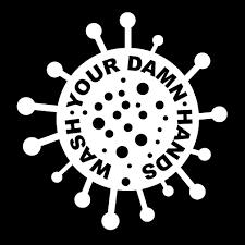 Wash Your Damn Hands Vinyl Decal Texas 144 1