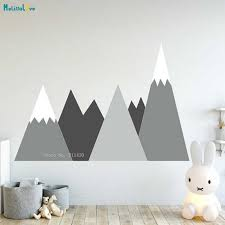 Large Size Mountains Wall Decal Nursery Headboard Corner Pattern Baby Kids Room Washable Self Adhesive Decor Yt2454 3 Aliexpress