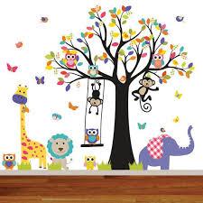 Jungle Wall Decal Baby Wall Decal Nursery Wall By Wallartdesign Kids Wall Decals Jungle Wall Decals Tree Decal Nursery