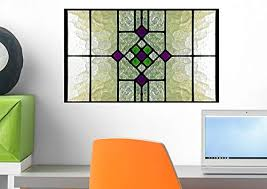 Amazon Com Wallmonkeys Stained Glass Window Wall Decal Peel And Stick Graphic Wm263083 18 In W X 12 In H Home Kitchen