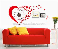 Diy Wall Clock Stickers Red Love Creative Clock Wall Stickers Romantic Wedding Design Decor Buy Diy Wall Clock Stickers Red Love Creative Clock Wall Stickers Romantic Wedding Design Decor Product On Alibaba Com