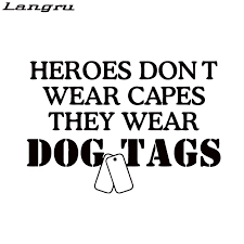 Langru Heroes Dont Wear Vinyl Decal Sticker Car Styling Car Truck Military Army Navy Wife Graphics Jdm Jdm Style Sticker Carstyling Car Aliexpress