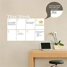 Amazon Com Vinyl Wall Decal Quote Stickers Home Decoration Wall Art Mural New Chalkboard Weekly Planner Dry Erase Calendar Home Kitchen