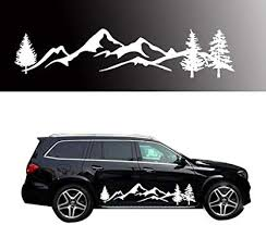 Amazon Com Giftcity Car Decals Sticker 2 Pack Mountain Forest Graphic Decal Car Vinyl Stickers For Car Truck Suv Jeep Universal Scratch Hidden Car Stickers White 78 Inch X 16 Inch Automotive